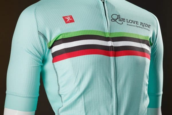 Live Love Ride cycling jersey featured