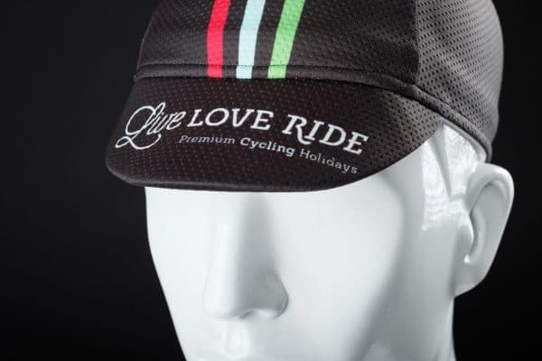 Live Love Ride cycling cap cycling gear front
